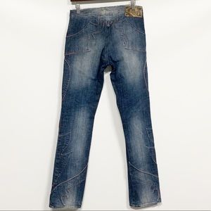 Just Cavalli Jeans - Just Cavalli | Embroidered Flame Straight Leg Jean